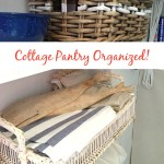 Cottage Pantry Organized On an Itty Bitty Budget