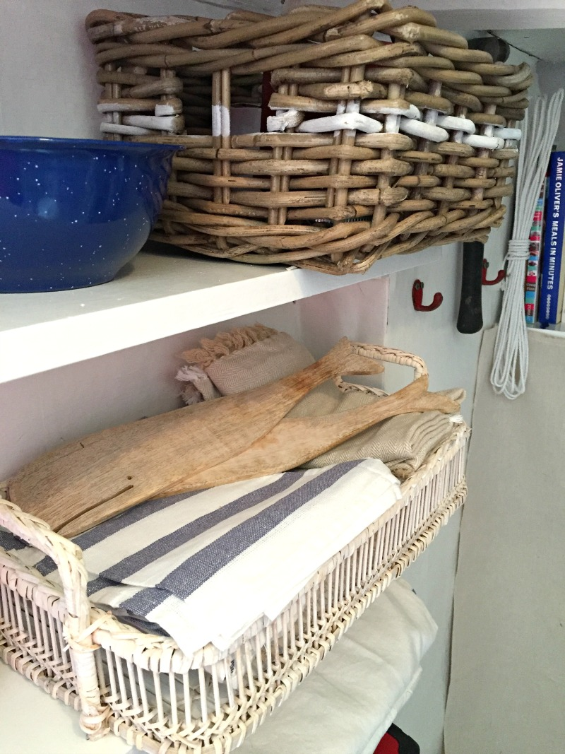 Practical but cute accessories in our cottage pantry