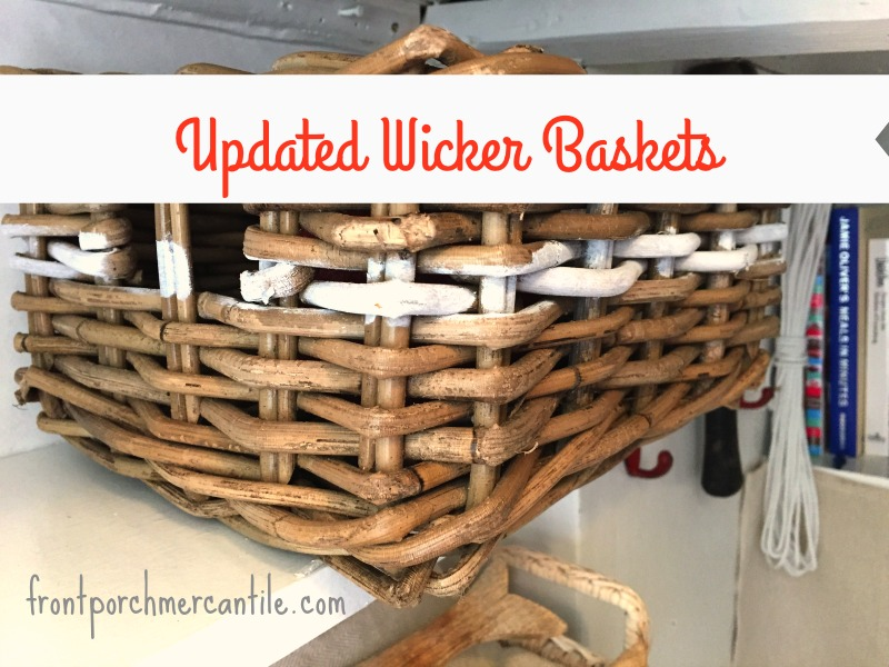 update a wicker basket with a little FAT Paint and Frog Tape