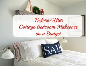 Cottage Master Bedroom Reno Before/After on a budget