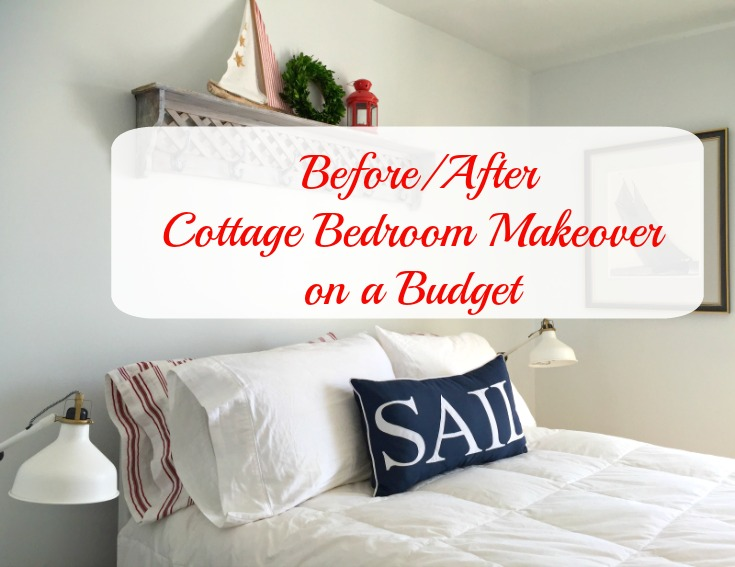see how we updated our cottage master bedroom on a budget with paint and imagination