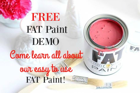 Free Fat Pain chalk paint demo