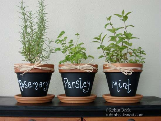 Painted Pots for your Front Porch