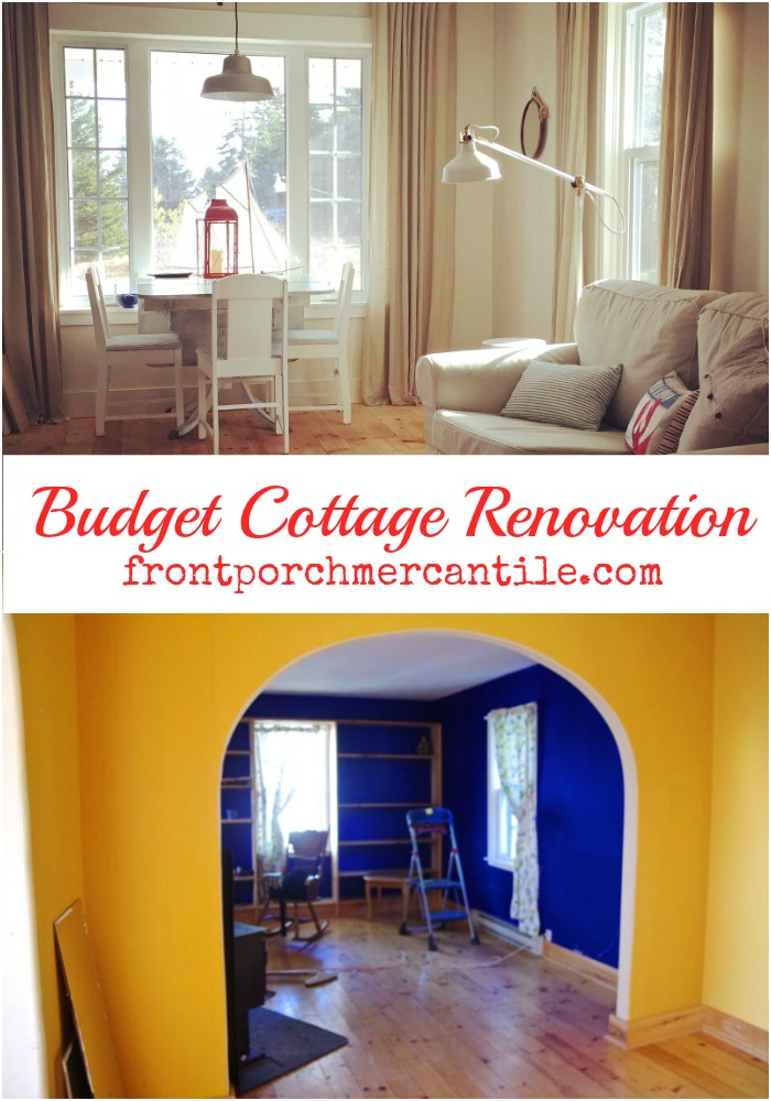 a budget cottage renovation from Front Porch Mercantile