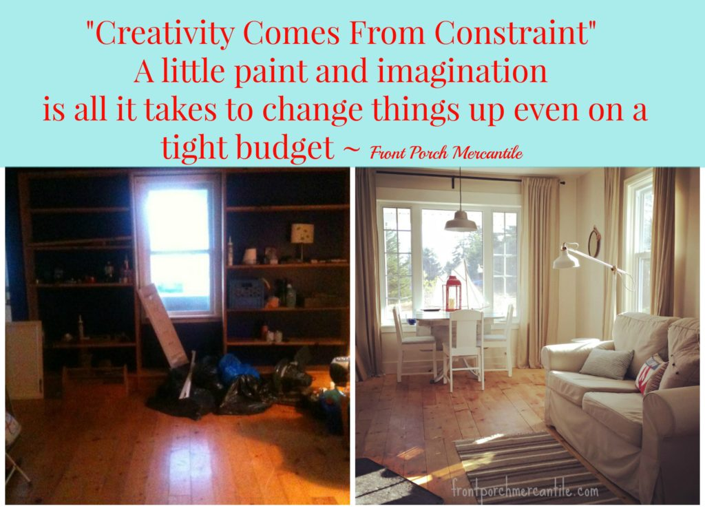 When faced with tight budgets and other constraints, you learn to get creative, this is a great budget before and after