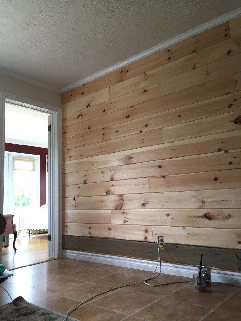 Plank Wall started at the beach cottage