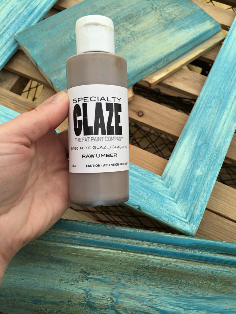 Use the Fat Paint company glaze to add patina to your salt wash piece