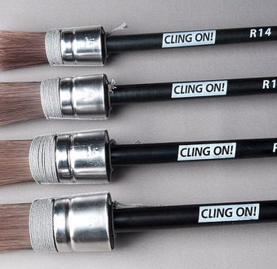 Cling On Brushes R18 perfect round brush with milk paint, acrylics and chalk paints