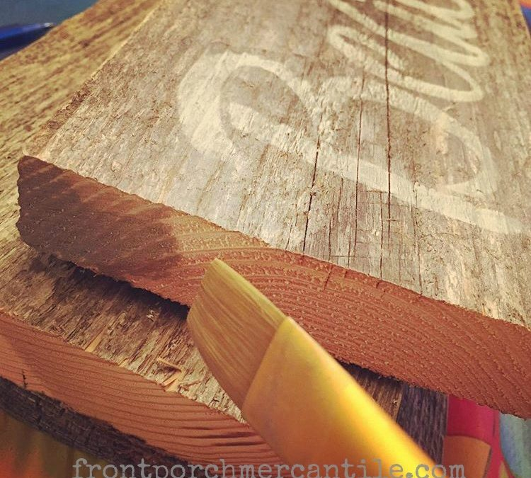 Paint Tip – Make Raw Wood Edges Look Old
