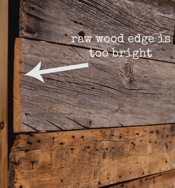 fix this raw cut edge easily with milk paint stain