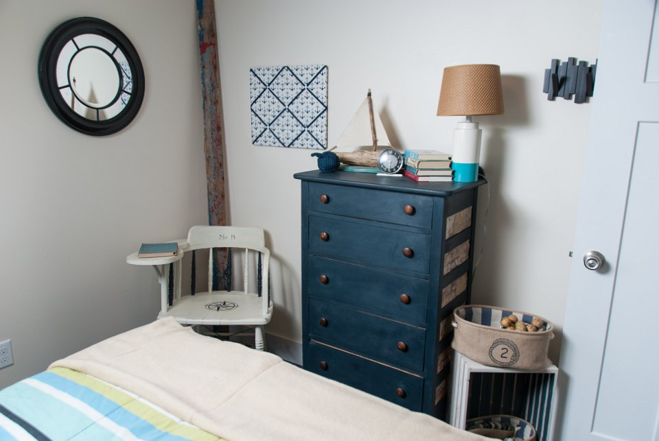 MMS Milk Paint and creativity were used to finish this dresser and great desk in the sons room