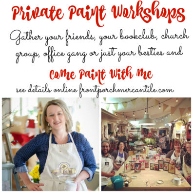 Join us at Front Porch Mercantile for a private workshop with your favourite group