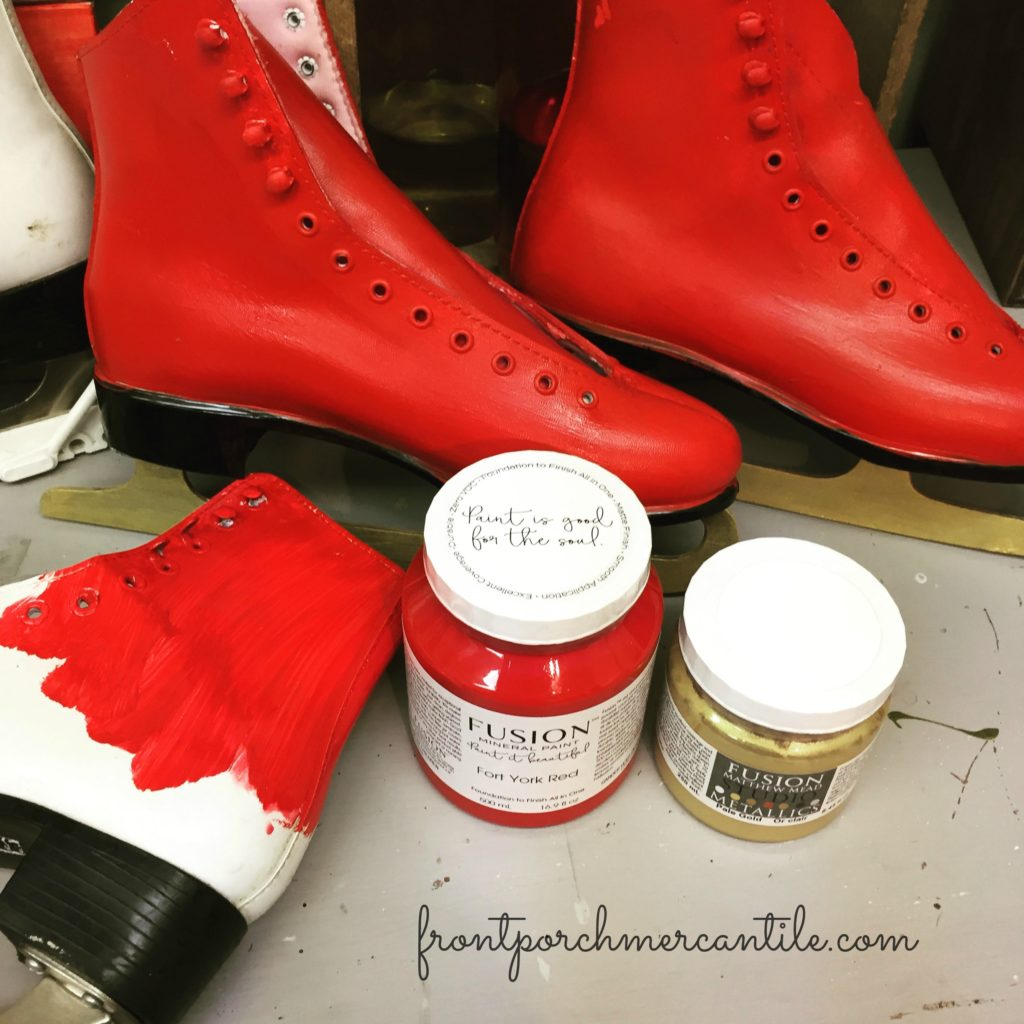 Painting skates with Fusion Mineral Paint
