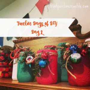 Easy Holiday DIY-Painted Mason Jars