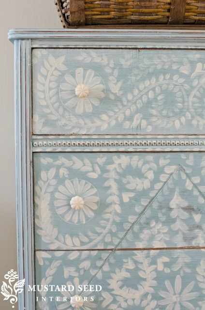 Beautiful Stencil Dresser from Miss Mustard Seed