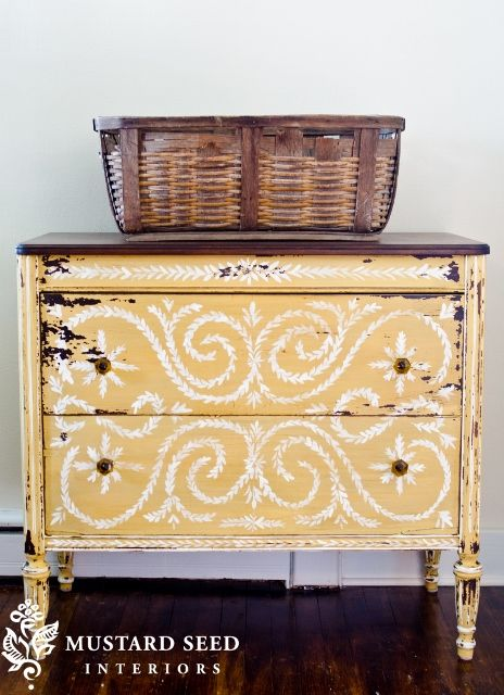 Beautiful hand painted dressers is not do able for everyone, we now have hand painted stencils available from MMS