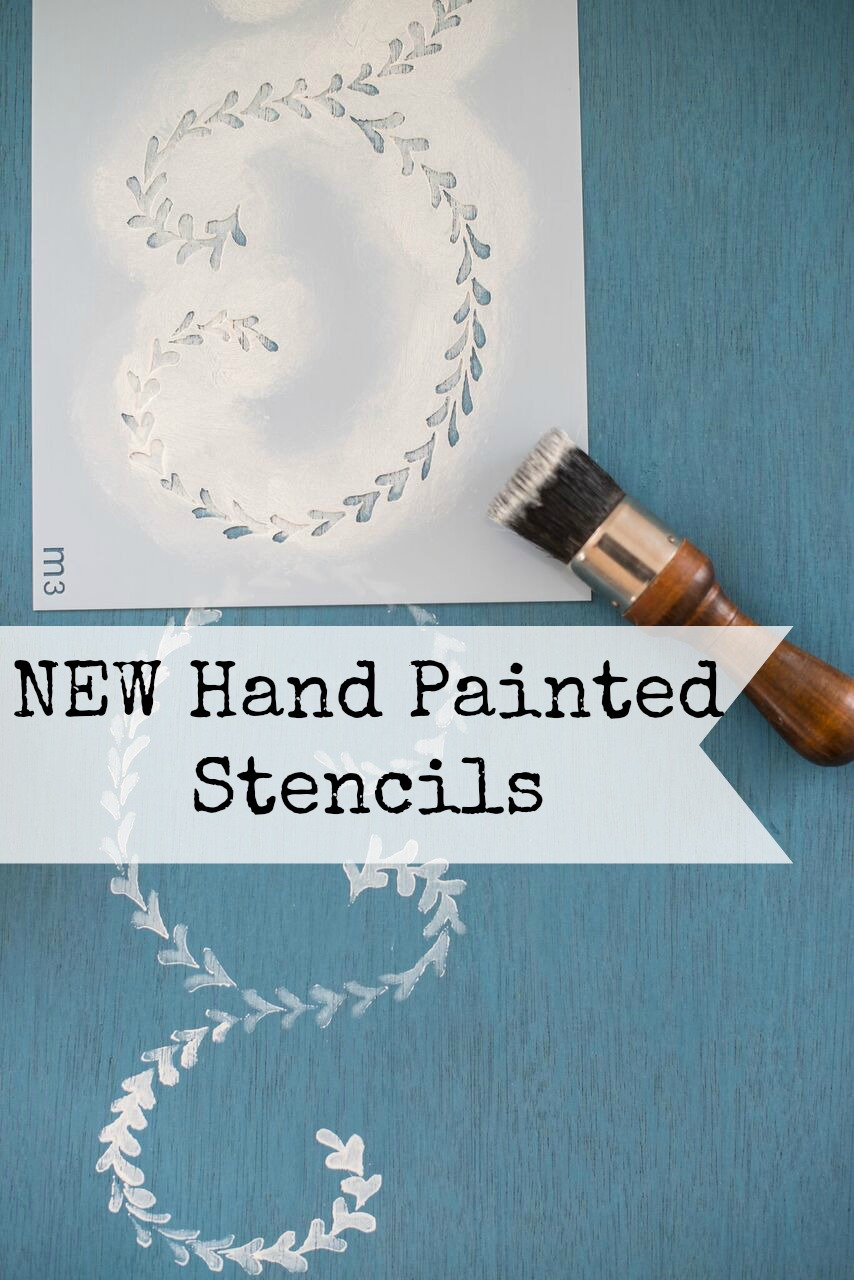 our new hand painted stencils have gorgeous brush strokes - from the MMSMP collection