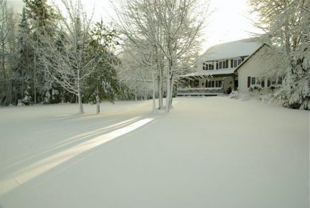 our house in winter, we love country living