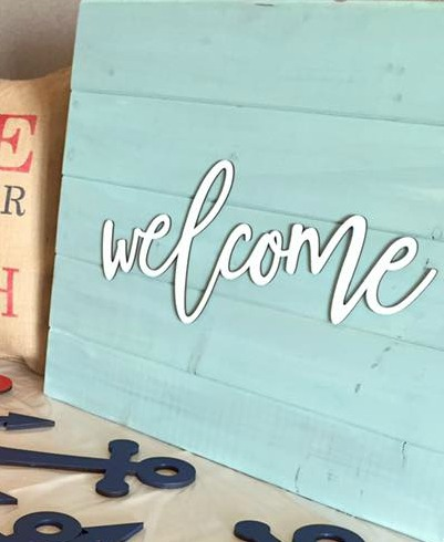 welcome signs - make one at Front Porch Mercantile