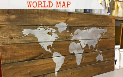 Easy Milk Painted World Map