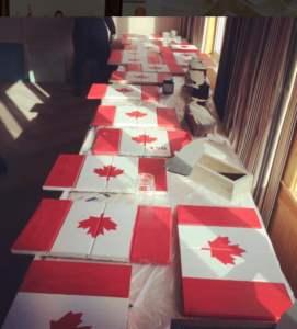 join us as we celebrate and create a Canada 150 pallet flag in this workshop in our Moncton studio