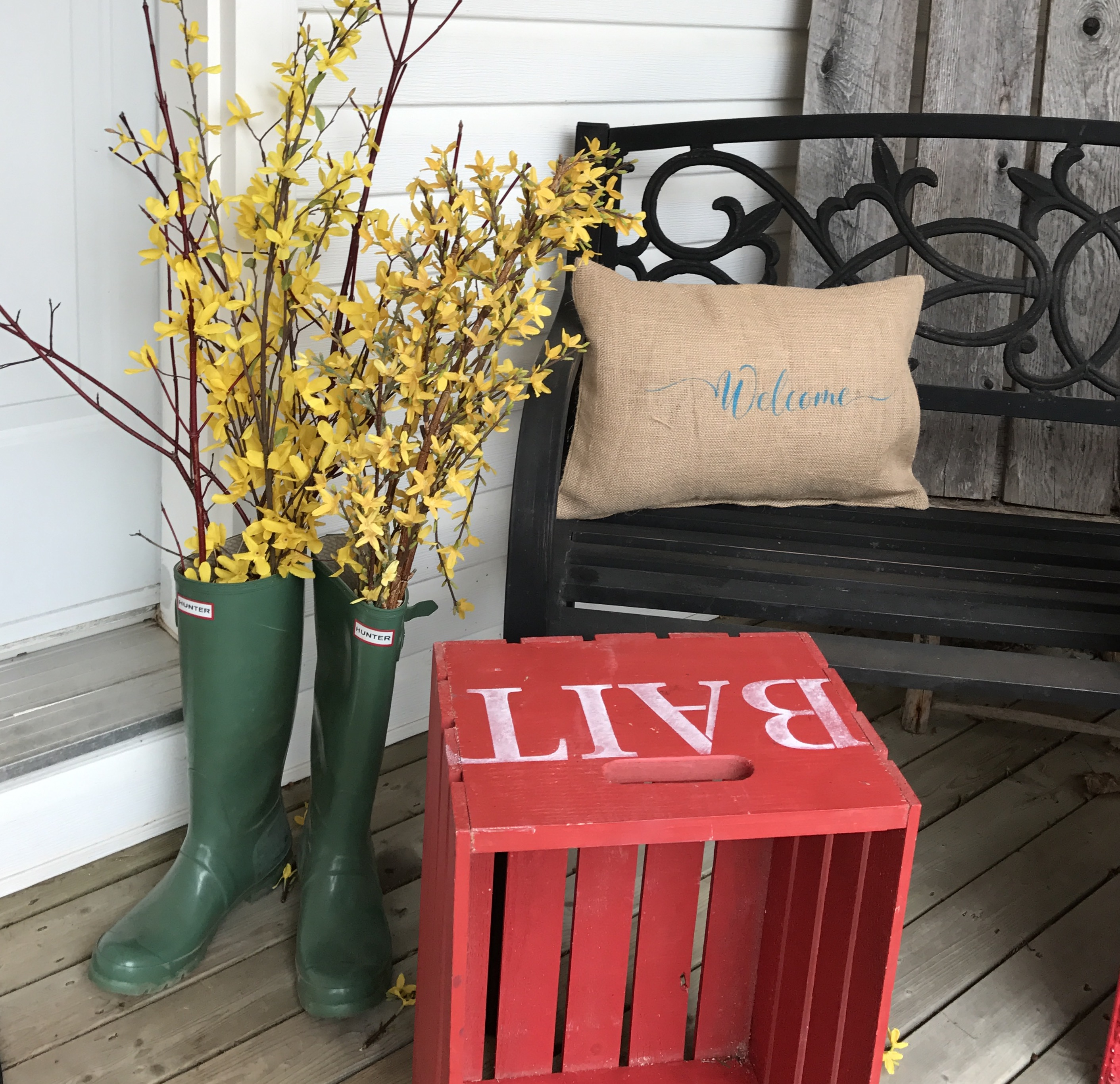 Crates for the front porch at Front Porch Mercantile