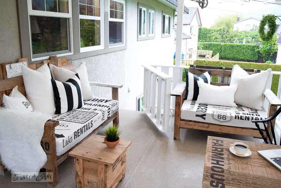 cool patio re loved pieces using Funky Junk Stencils