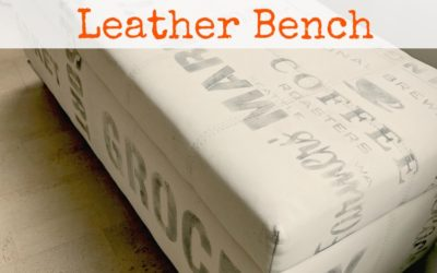 Graffiti Painted Leather Bench