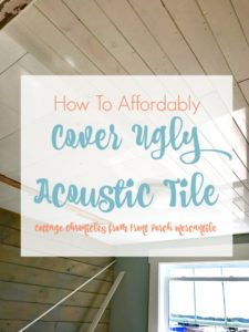 How To Affordably Cover Acoustic Tile Ceiling