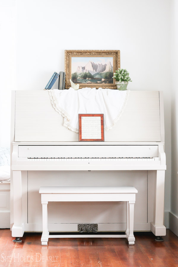 Paint your piano with Miss Mustard Seed's Milk Paint, check out 10 other gorgeous MMS Milk Painted pieces