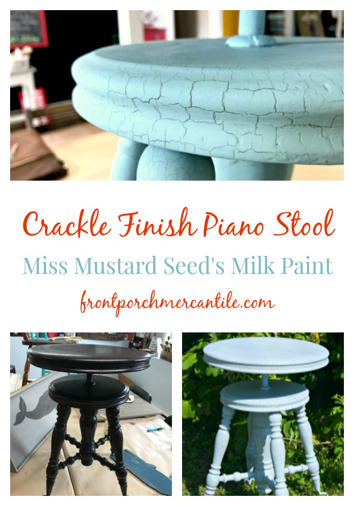 I love a chippy and crackle finish  and using Miss Mustard Seed's Milk Paint is perfect