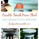 Crackle Finish Piano Stool