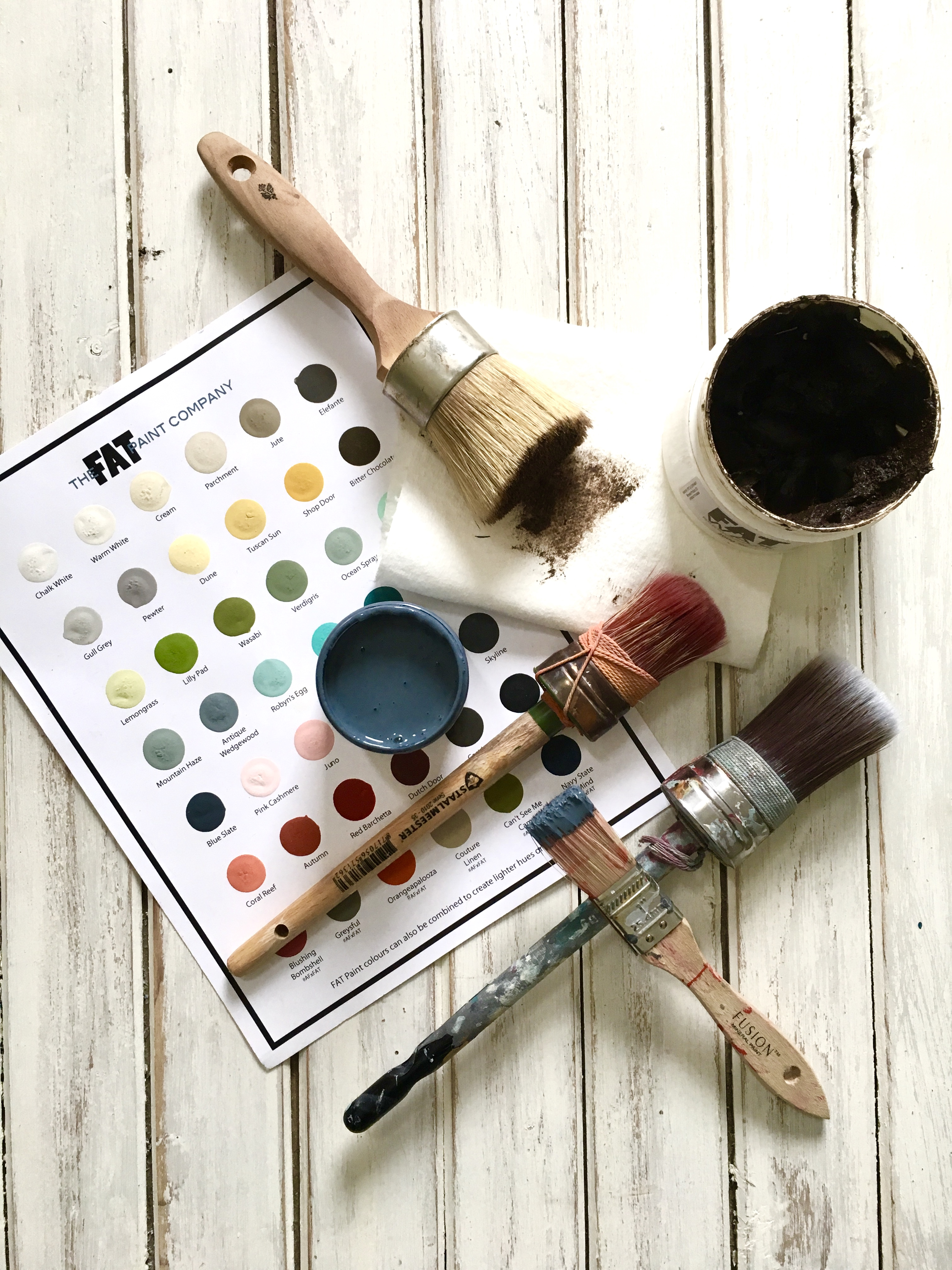 Lots of brushes and accesories avaiilable at Front Porch Mercantile