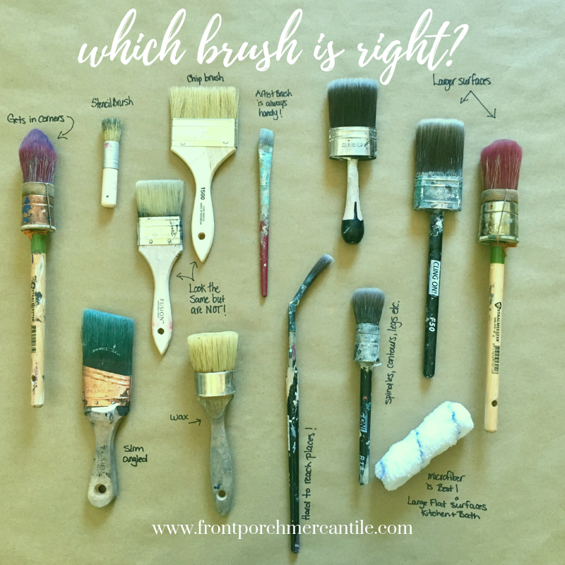 """Which brush is right? Why do I need a """"fancy"""" brush with Front Porch Mercantile"""