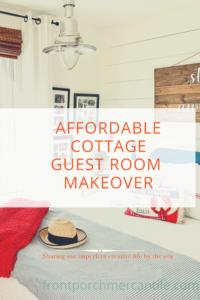 Easy DIY cottage guest room makeover - Front Porch Mercantile