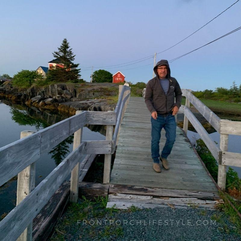the bridge from Jesse Stone House