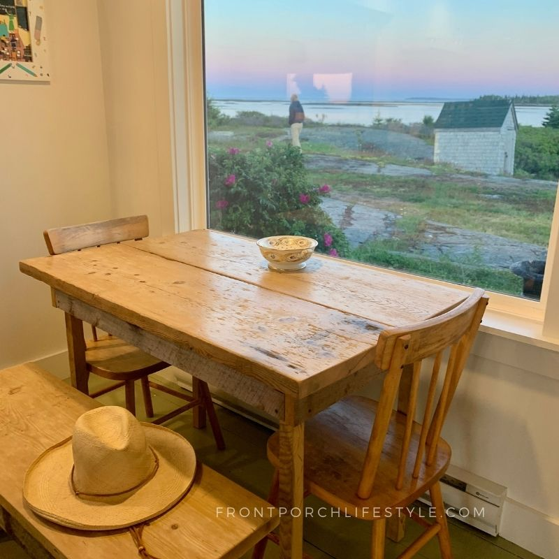 imagine breakfast here inside the Jesse Stone House every morning?